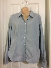 AMERICAN EAGLE Stretch L/S Lt. Blue Tailored Shirt Size 8 Career Wear to work