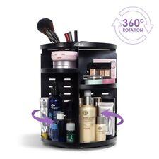 360 Degree Rotating Makeup Cosmetics Table Organiser Storage Display Stand Black