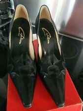 Ladies Captiva Black Court Shoes 4