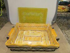 Temp-tations Ovenware Baking Dish, Wire Rack, Trivet Rect.- Old World 2.5 Qt