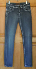 Free Culture Ladies Size 5 Low Rise Skinny Blue Jeans