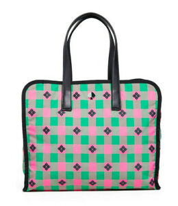 Kate Spade Nylon Tote Shopper Morley Large Tote ~NWT~ Pink Green