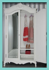 *IN STOCK* NEW French Provincial Hamptons Style White Mirrorred Wardrobe Armoire