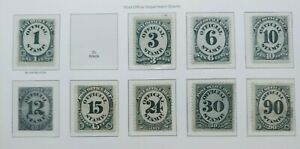 1873 LOT OFFICIAL 1C-90C VF MLH (90C IS VF USED) USA UNITED STATES WK1.1 0.99$