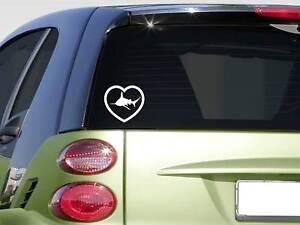 Heart Shark *F342* sticker decal great white beach surf scuba mask boat
