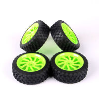 4Pcs Rally Rubber Tires Wheel Rim 12mm Hex For HPI HSP 1/10 RC Model Car Set