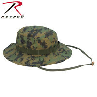 Digital Woodland Camo Boonie Hat Vented Fitted Ripstop Rothco 5827