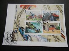 GB~2011~Thomas The Tank Engine~ M/S~Very Fine Used Set~on piece~ex fdc~UK Seller
