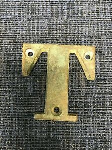 "Vintage 2 3/8"" Brass House / Boat Letter 'I' Found at Boat Yard Eastern Shore Va"