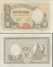 STUPENDO  @ 100 LIRE GRANDE B ( GIALLINA) DEC.10 OTTOBRE 1944