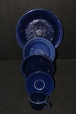 Fiesta 5-piece Setting Cobalt Blue Dinner, Salad Plate, Bowl, Tcup & Saucer