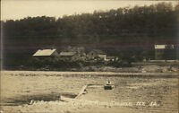 Sprakers NY Ferry Mohawk River c1915 Real Photo Postcard