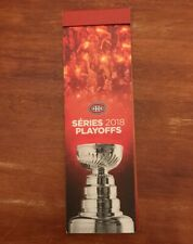 MONTREAL CANADIENS 2018 NHL PLAYOFFS SEASON TICKETS BOOKLET & TICKET STUBS
