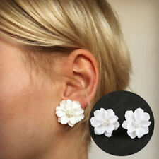 CO_ White Fashion Flowers Faux Pearls Women Earrings Ear Studs Jewelry Gift Util
