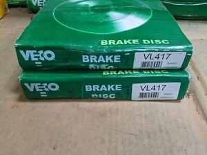 VECO BRAKE DISCS ( PAIR ) VL417 FITS ALFA ROMEO FIAT FORD LANCIA YUGO