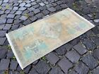 Vintage doormats, Turkish small rug, Hand-knotted wool rug,Carpet   1,5 x 2,9 ft