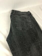 LUCKY BRAND Woman's Jeans Size 30X26 Gray Brown Snake Print Charlie Skinny