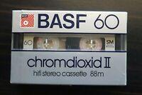 BASF CHROMDIOXID II 60 HIGH BIAS TYPE II BLANK AUDIO CASSETTE - 1981 (88m)