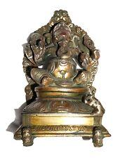 A Vintage Unique Brass Deity Vinayaka Ganesha Ganpati SILVER - COPPER ARTWORK