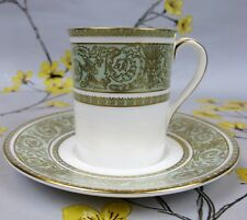Superb green & gold Royal Doulton bone china English Renaissance COFFEE CAN/CUP