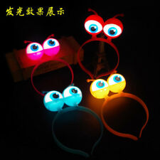 LED Alien Eyes Ears Light Headbands Flashing Halloween Party Headwear Hair Band