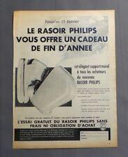 PUB PUBLICITE ANCIENNE ADVERT CLIPPING 210917 RASOIR ÉLECTRIQUE PHILIPS SUPPORT