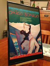 "BIG 11X17 FRAMED ORIGINAL OINGO BOINGO ""GOOD FOR YOUR SOUL"" LP ALBUM CD PROMO AD"