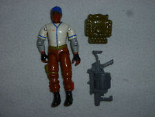 VINTAGE GI JOE AMERICAN HERO HARDBALL FIGURE 1988 COMPLETE W BACKPACK HASBRO >>