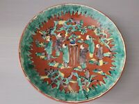 Antique Asian Japanese Footed Dish Bowl Asian Decor Motif 1.75'' T ~ 9.5'' W