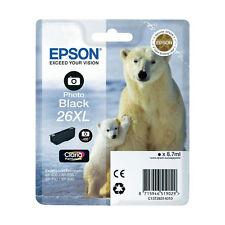 CARTOUCHE EPSON NOIRE PHOTO 26XL / 26 XL ours polaire blanc t26 t2631 noir