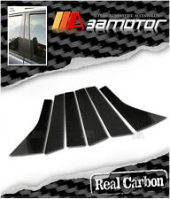 Real Dry Carbon Fiber Door Pillar Panel Decal Covers for 08-11 Honda Fit / Jazz