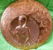 Médaille - érotique -  de voeux bronze florentin Monnaie de Paris,signé C.EMMEC