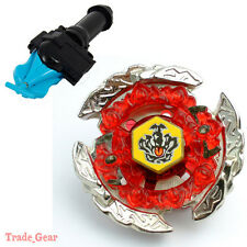 BB116C HELL CROWN BEYBLADE Masters Fusion Metal Fight+GRIP+BLUE SPIN LAUNCHER