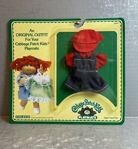 Vintage 1984 Cabbage Patch Kids PLAYMATE Mini Doll Outfit NEW Overalls 3942