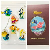 RETIRED Disney Finding Nemo 6Pc Christmas Storybook Ornament Box Set