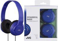 JVC HA-S180 BLUE Lightweight Powerful Deep Bass Headphones Original / Brand New