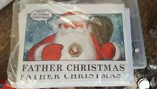 2018 Gibraltar Coloured Father Christmas 50p coin in Christmas card Fifty pence