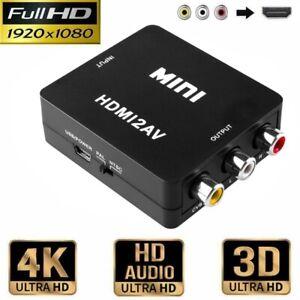 HDMI to zu AV Converter 1080P 3 RCA Composite CVBS Video Audio Konverter Z183