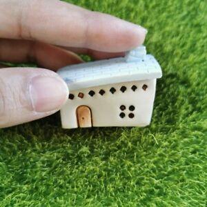 Little Ceramic House Miniature Dollhouse Clay House Fairy Garden Handmade Decor