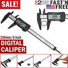 6inch LCD Digital Caliper Electronic Gauge Carbon Fiber Vernier Micrometer Ruler