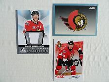 Daniel Alfredsson 2012/13 SP GU Authentic Fabrics 1992 Score Ottawa Team Card +
