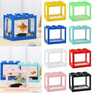 Block PVC Ornamental Betta Fish Accessories Mini Aquarium Betta Fish Tank