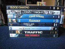 Lot of 8 DVDs ~Blow Diamond, We Own the Night, Lara Croft Tomb Raider, Traffic..