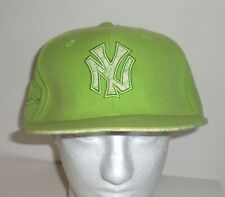 Mitchell Ness New York Yankees Cap Embroidered Logo Green Paisley Fitted Sz 8