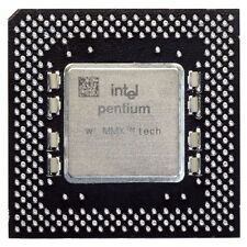 Intel Pentium MMX sl26j 200mhz/66mhz socket/zócalo 7 CPU fv80503200 Processor