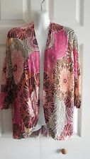NWT CHICO'S PATCHED PAISLEY CHRISSINE COCOON 3/4 SLEEVE CARDIGAN SWEATER 10 M