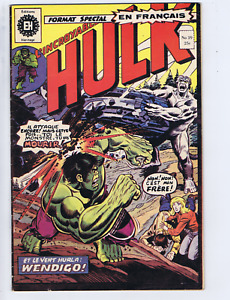 L'incroyable Hulk #39 Heritage FRENCH /CANADIAN 1st Cameo Wolverine! (B&W)