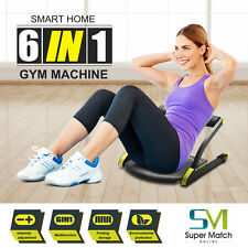 Abdominal Exercise Core Whole Body Train Wonder Workout Fitness AB Machine 6In1