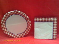 Gingham Fun Paper Napkins & Plates ( Celebrations )