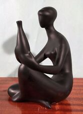 Vintage Royal Dux Sculpture Abstract Mid Century Modern Henry Moore Eames Era
